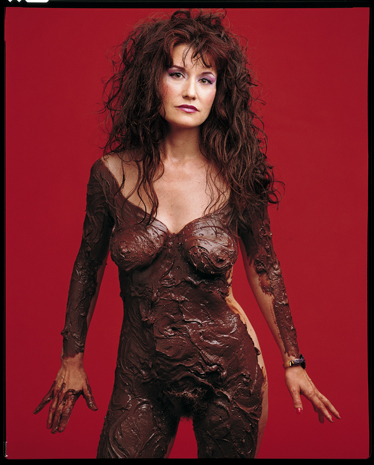 Karen Finley covered in Chocolate